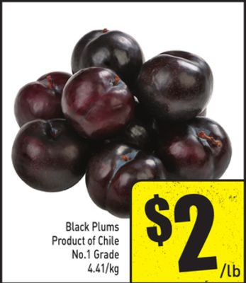 Black Plums Product of Chile No.1 Grade 4.41/kg
