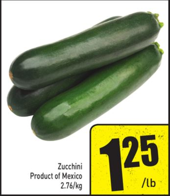 Zucchini Product of Mexico 2.76/kg