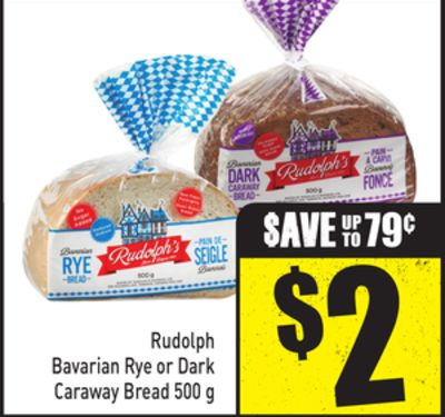 Rudolph Bavarian Rye or Dark Caraway Bread 500 g