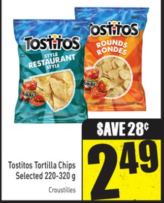 Tostitos Tortilla Chips Selected 220-320 g