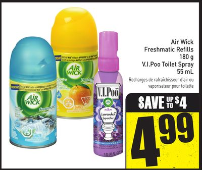 Air Wick Freshmatic Refills 180 g V.i.poo Toilet Spray 55 mL