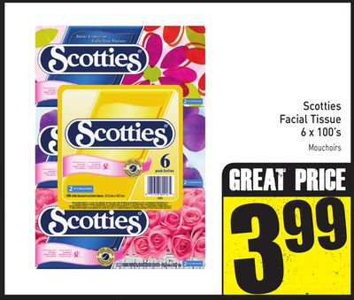 Scotties Facial Tissue 6 X 100's