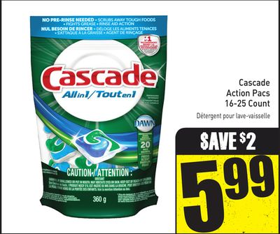Cascade Action Pacs 16-25 Count
