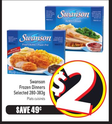 Swanson Frozen Dinners Selected 280-383g
