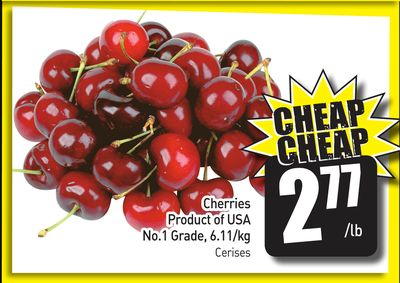 Cherries Product of USA No.1 Grade - 6.11/kg