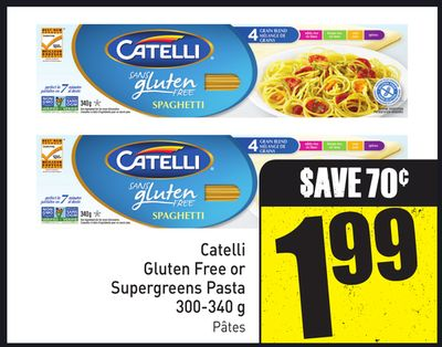 Catelli Gluten Free or Supergreens Pasta 300-340 g