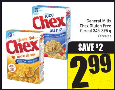 General Mills Chex Gluten Free Cereal 345-395 g