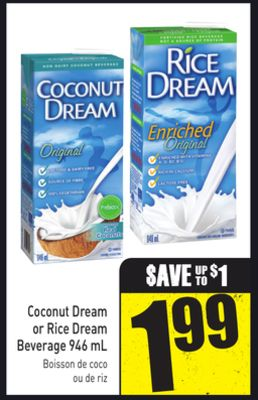 Coconut Dream or Rice Dream Beverage 946 mL
