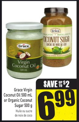 Grace Virgin Coconut Oil 500 mL or Organic Coconut Sugar 500 g