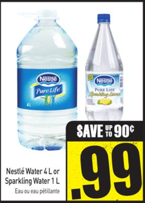 Nestlé Water 4 L or Sparkling Water 1 L