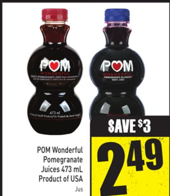 POM Wonderful Pomegranate Juices 473 mL Product of USA