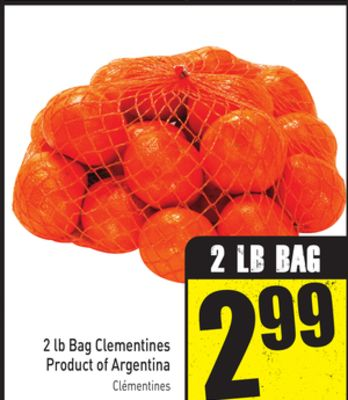 2 Lb Bag Clementines Product of Argentina