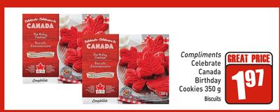 Celebrate Canada Birthday Cookies 350g