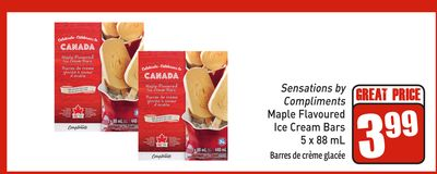 Maple Flavoured Ice Cream Bars 5 X 88 mL
