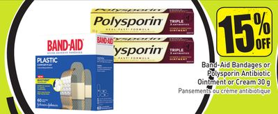 Band-aid Bandages or Polysporin Antibiotic Ointment or Cream 30 g