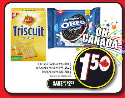 Christie Cookies - 198-303 g or Snack Crackers - 175-454 g Ritz Crackers - 180-200 g