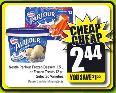 Nestlé Parlour Frozen Dessert 1.5 L or Frozen Treats 12 Pk Selected Varieties