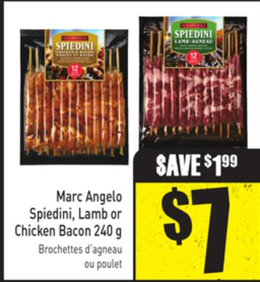 Marc Angelo Spiedini - Lamb or Chicken Bacon 240 g