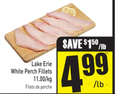 Lake Erie White Perch Fillets 11.00/kg