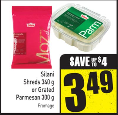 Silani Shreds 340 g or Grated Parmesan 300 g