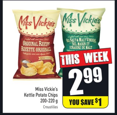 Miss Vickie's Kettle Potato Chips 200-220 g