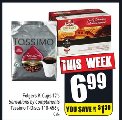 Folgers K-cups 12's Sensations By Compliments Tassimo T-discs 110-456 g