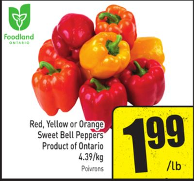 Red - Yellow or Orange Sweet Bell Peppers 4.39/kg
