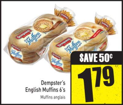 Dempster's English Muffins 6's