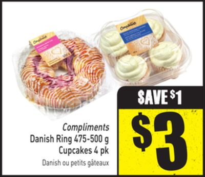 Compliments Danish Ring 475-500 g Cupcakes 4 Pk