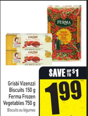 Grisbi Vizenzzi Biscuits 150 g Ferma Frozen Vegetables 750 g