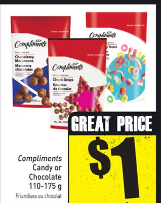 Compliments Candy or Chocolate 110-175 g