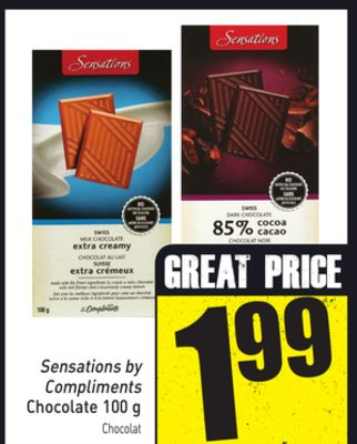Sensations By Compliments Chocolate 100 g