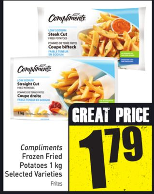 Compliments Frozen Fried Potatoes 1 Kg