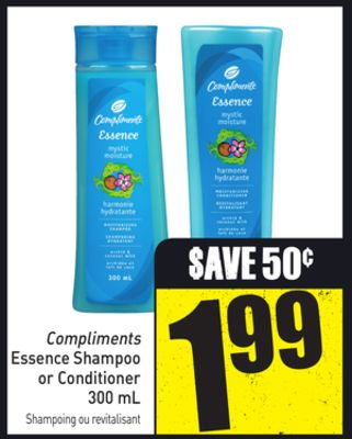 Compliments Essence Shampoo or Conditioner 300 mL