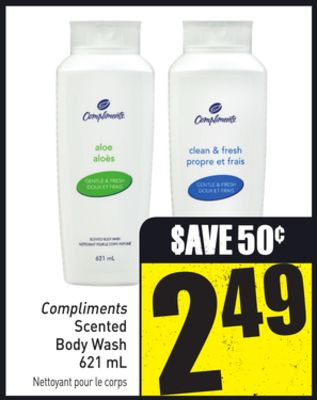 Compliments Scented Body Wash 621 mL