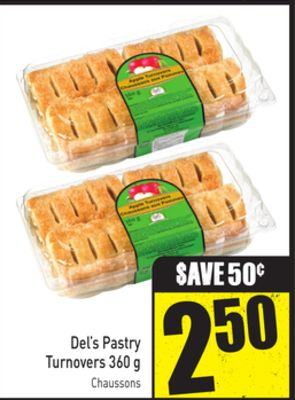 Del's Pastry Turnovers 360 g