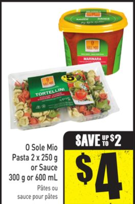 O Sole Mio Pasta 2 X 250 g or Sauce 300 g or 600 mL