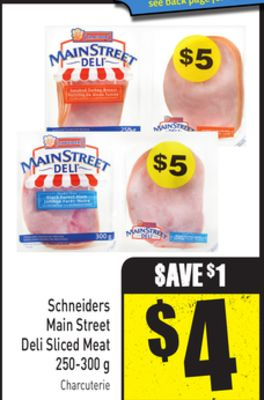 Schneiders Main Street Deli Sliced Meat 250-300 g