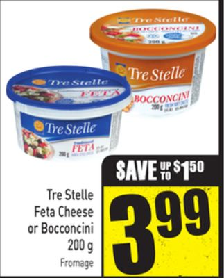 Tre Stelle Feta Cheese or Bocconcini 200 g