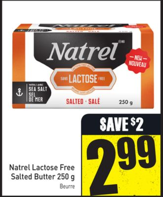 Natrel Lactose Free Salted Butter 250 g