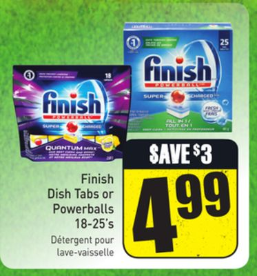 Finish Dish Tabs or Powerballs 18-25's