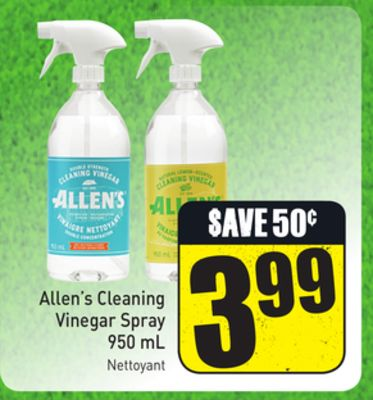 Allen's Cleaning Vinegar Spray 950 mL