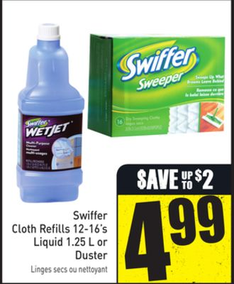 Swiffer Cloth Refills 12-16's Liquid 1.25 L or Duster