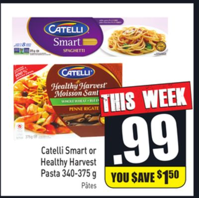 Catelli Smart or Healthy Harvest Pasta 340-375 g