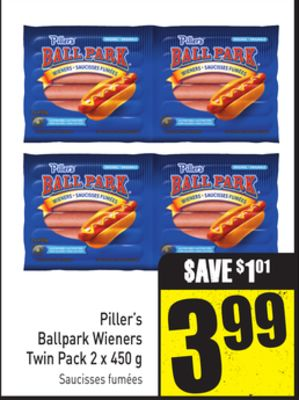 Piller's Ballpark Wieners Twin Pack 2 X 450 g