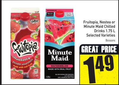 Fruitopia - Nestea or Minute Maid Chilled Drinks 1.75 L Selected Varieties