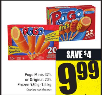 Pogo Minis 32's or Original 20's Frozen 960 G-1.5 Kg