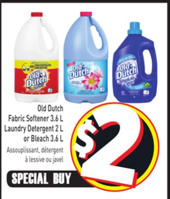 Old Dutch Fabric Softener 3.6 L Laundry Detergent 2 L or Bleach 3.6 L