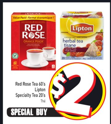 Red Rose Tea 60's Lipton Specialty Tea 20's