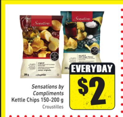 Sensations By Compliments Kettle Chips 150-200 g